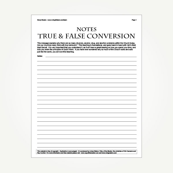 True and False Conversion | Living Waters